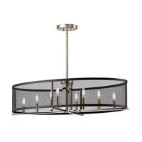 Kichler 43712PN Titus 8 Light 17 inch Polished Nickel Chandelier Ceiling Light
