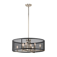 Kichler 43715PN Titus 8 Light 25 inch Polished Nickel Chandelier Ceiling Light
