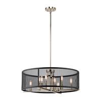 Kichler 43715PN Titus 8 Light 25 inch Polished Nickel Chandelier Ceiling Light
