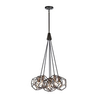 Kichler 43718RS Rocklyn 6 Light 23 inch Raw Steel Pendant Ceiling Light