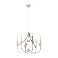 Eloise 6 Light 24 inch Polished Nickel Chandelier Ceiling Light