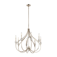 Kichler 43721PN Eloise 8 Light 30 inch Polished Nickel Chandelier Ceiling Light