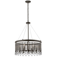 Kichler 43723ESP Piper 6 Light 24 inch Espresso Chandelier Ceiling Light