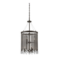 Kichler 43724ESP Piper 6 Light 16 inch Espresso Foyer Chandelier Ceiling Light