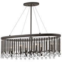 Kichler 43725ESP Piper 6 Light 14 inch Espresso Chandelier Oval Pendant Ceiling Light