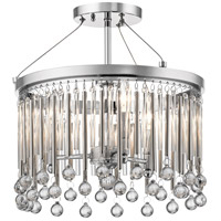 Kichler 43726CH Piper 3 Light 15 inch Chrome Semi Flush Mount Ceiling Light
