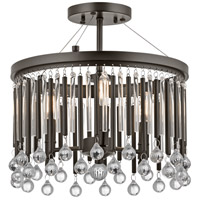 Piper 3 Light 15 inch Espresso Semi-Flush Ceiling Light