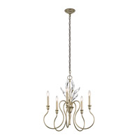 Grace 5 Light 25 inch Sterling Gold Chandelier Ceiling Light