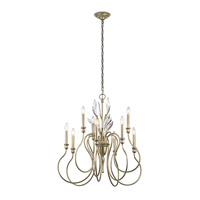 Kichler 43729SGD Grace 9 Light 30 inch Sterling Gold Chandelier Ceiling Light