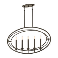 Kichler 43732OZ Imogen 5 Light 4 inch Olde Bronze Chandelier Ceiling Light