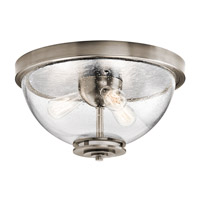 Kichler 43740CLP Silberne 3 Light 18 inch Classic Pewter Flush Mount Ceiling Light