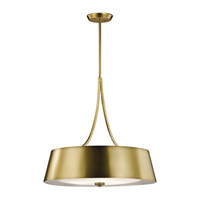 Maclain 4 Light 24 inch Natural Brass Chandelier Ceiling Light