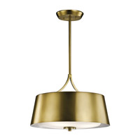Maclain 3 Light 16 inch Natural Brass Pendant Ceiling Light