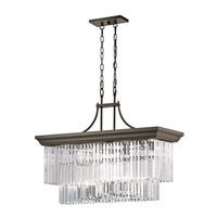 Kichler 43745OZ Emile 12 Light 13 inch Olde Bronze Chandelier Ceiling Light
