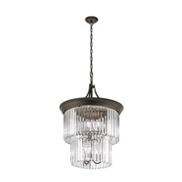 Kichler Emile 9 Light Foyer Chandelier in Olde Bronze 43747OZ