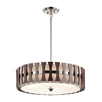 Cirus 4 Light 24 inch Auburn Stained Pendant Ceiling Light