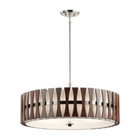 Cirus 5 Light 30 inch Auburn Stained Pendant Ceiling Light