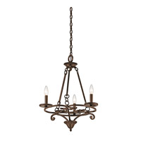 Kichler 43770AGZ Caldella 3 Light 19 inch Aged Bronze Mini Chandelier Ceiling Light