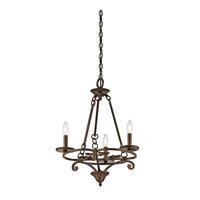 Kichler 43770AGZ Caldella 3 Light 19 inch Aged Bronze Mini Chandelier Ceiling Light