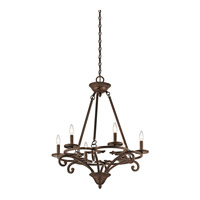 Caldella 6 Light 27 inch Aged Bronze Chandelier Ceiling Light