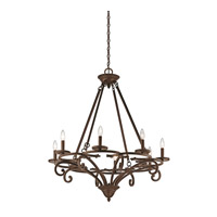 Caldella 8 Light 33 inch Aged Bronze Chandelier Ceiling Light