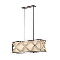 Kichler Cahoon 3 Light Chandelier in Anvil Iron 43774AVI