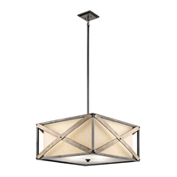 Kichler 43776AVI Cahoon 4 Light 26 inch Anvil Iron Pendant Ceiling Light