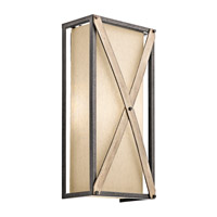 Kichler Cahoon 2 Light Wall Sconce in Anvil Iron 43777AVI