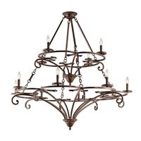 Kichler 43779AGZ Caldella 12 Light 49 inch Aged Bronze Chandelier Ceiling Light