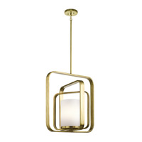Kichler 43783NBR City Loft 1 Light 21 inch Natural Brass Chandelier Ceiling Light