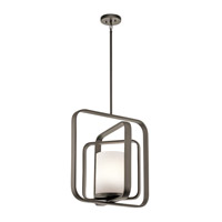 Kichler 43783OZ City Loft 1 Light 21 inch Olde Bronze Chandelier Ceiling Light
