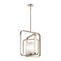 Kichler 43783PN City Loft 1 Light 21 inch Polished Nickel Chandelier Ceiling Light