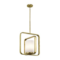 City Loft 1 Light 16 inch Natural Brass Pendant Ceiling Light