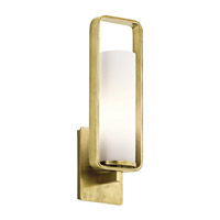Kichler City Loft 1 Light Wall Bracket in Natural Brass 43787NBR