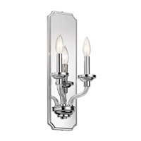 Kichler 43810CH Loula 2 Light 8 inch Chrome Wall Sconce Wall Light