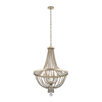 Kichler 43811SGD Birkdale 6 Light 24 inch Sterling Gold Chandelier Ceiling Light