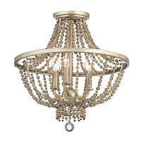 Birkdale 3 Light 16 inch Sterling Gold Flush Mount Ceiling Light