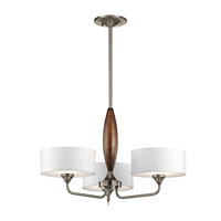 Lucille 3 Light 24 inch Classic Pewter Chandelier Ceiling Light