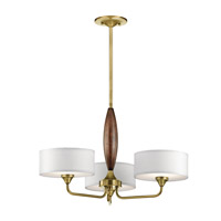 Kichler 43839NBR Lucille 3 Light 24 inch Natural Brass Chandelier Ceiling Light