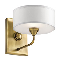 Kichler 43843NBR Lucille 1 Light 8 inch Natural Brass Wall Bracket Wall Light