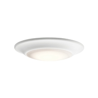 Kichler 43848WHLED27 Signature 1 Light 8 inch White Flush Mount Ceiling Light in 2700K, Dimmable