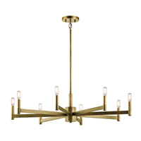 Erzo 8 Light 36 inch Natural Brass Chandelier Ceiling Light