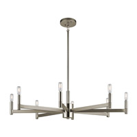Kichler 43857SN Erzo 8 Light 36 inch Satin Nickel Chandelier Ceiling Light