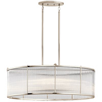 Kichler 43864PN Artina 8 Light 19 inch Polished Nickel Chandelier Ceiling Light