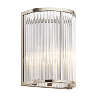 Kichler 43865PN Artina 2 Light 9 inch Polished Nickel Wall Sconce Wall Light