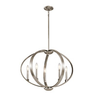 Kichler 43871CLP Elata 5 Light 27 inch Classic Pewter Chandelier Ceiling Light