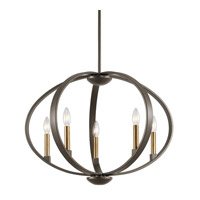 Kichler 43871OZ Elata 5 Light 27 inch Olde Bronze Chandelier Ceiling Light