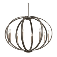 Kichler 43872OZ Elata 8 Light 36 inch Olde Bronze Chandelier Ceiling Light
