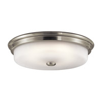 Kichler Signature 1 Light Flush Mount in Brushed Nickel 43875NILED