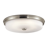 Kichler 43876NILED Signature 1 Light 18 inch Brushed Nickel Flush Mount Ceiling Light in Satin Nickel photo thumbnail